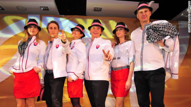 It is unclear who designed the Slovakian team's uniforms -- although who wouldn't want to retain anonymity after creating those fedoras?