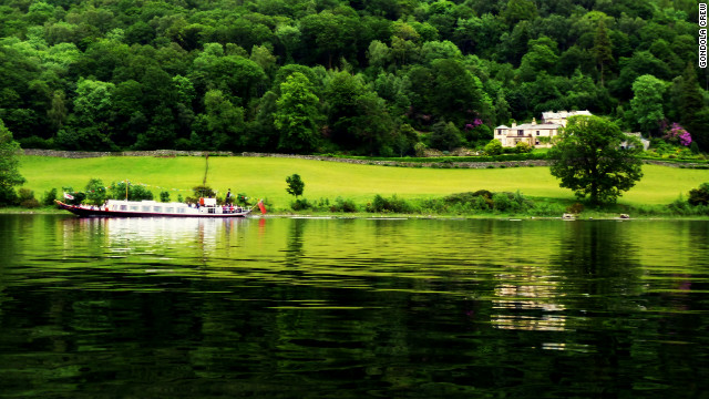 The 19th-century Steam Yacht Gondola offers rides to Brantwood in the Lake District.