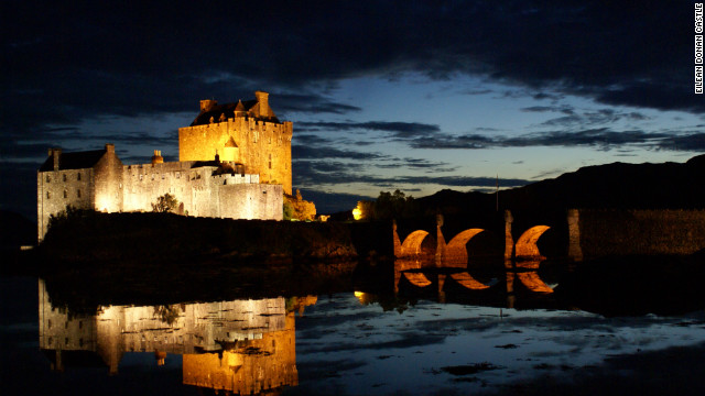 The romantic Eilean Donan Castle is on a rocky islet on the edge of Loch Duich.