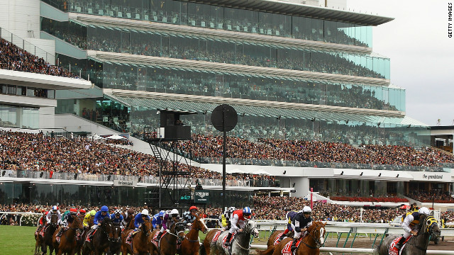 Australia's premier racecourse, Flemington, is home to the Melbourne Cup -- the country's richest race. After multiple renovations its three grandstands boast a total capacity of 130,000 people. The current appearance of the stands come courtesy of a $55 million revamp in 2000. Flemington even has its own railway branch line, shuttle bus and tram route to transport its huge crowds.