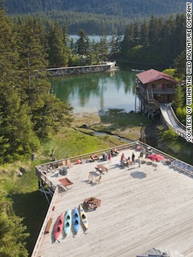 Tutka Bay Lodge near Homer proves that the rustic Alaskan experience doesn't have to neglect creature comforts. Visitors can explore 10 acres of land -- watching wildlife, plucking mussels and hiking through woods before returning to cozy cabins.