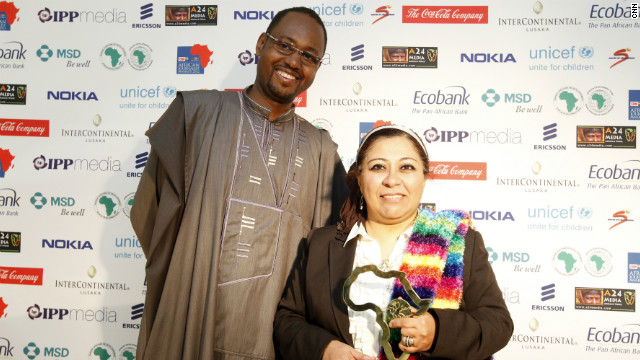 The Francophone General News Award is awarded to Egyptian journalist Manar Attiya.