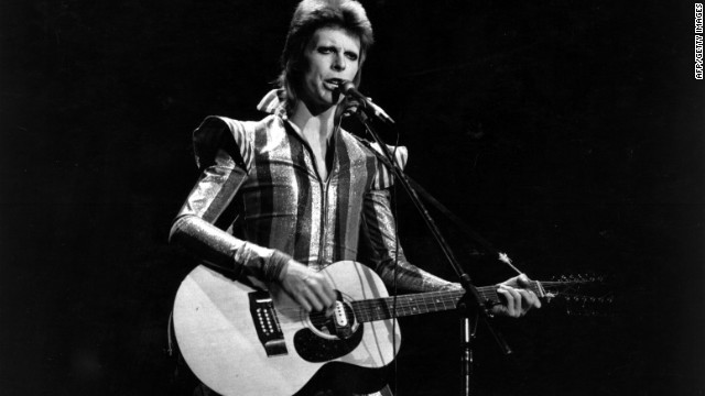 "David Bowie performs his final concert as Ziggy Stardust in 1973 at the Hammersmith Odeon, London. His hit ""Heroes"" was used to introduce the home nation Team GB to the Olympic stadium."