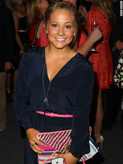 Shawn Johnson attends a benefit gala in London hosted by the U.S. Olympic Committee on July 26.