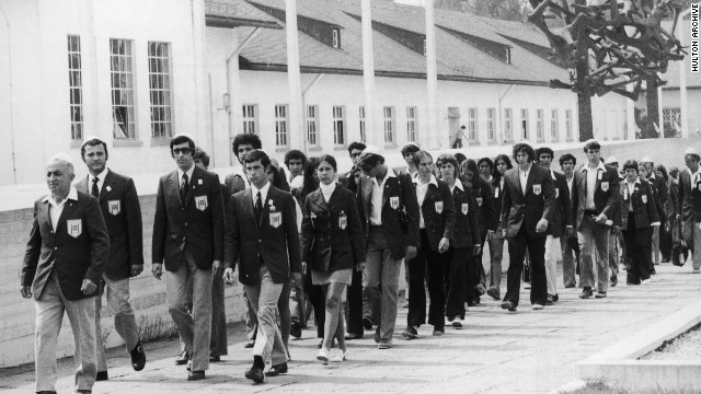 It was particularly poignant for the Israeli Olympic team, many of whom had suffered directly at the hands of the Nazis. The team marked their arrival with a visit to the Dachau concentration camp.<br/><br/>