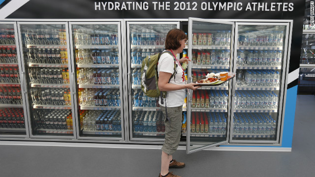 Dining at the Olympic Village