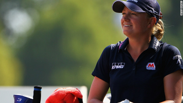 Stacy Lewis was in confident mood as she maintained her lead at the Evian Masters in France.