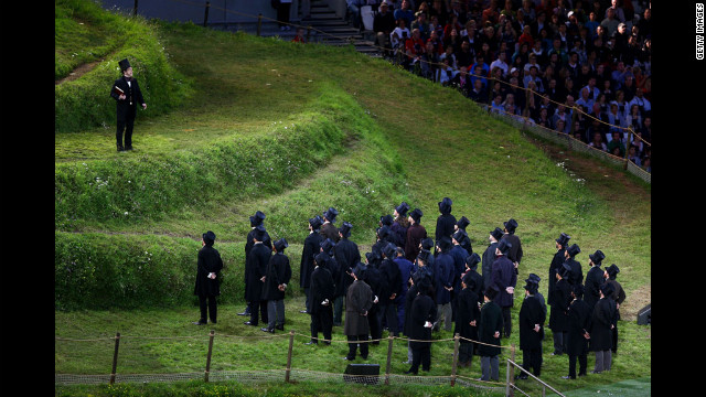 Kenneth Branagh performs as Isambard Kingdom Brunel.