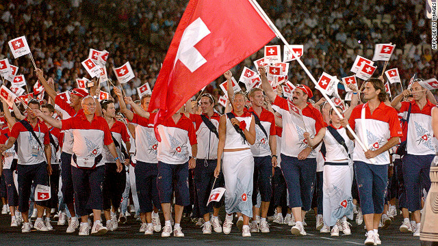 Flying the Olympic flag for Switzerland
