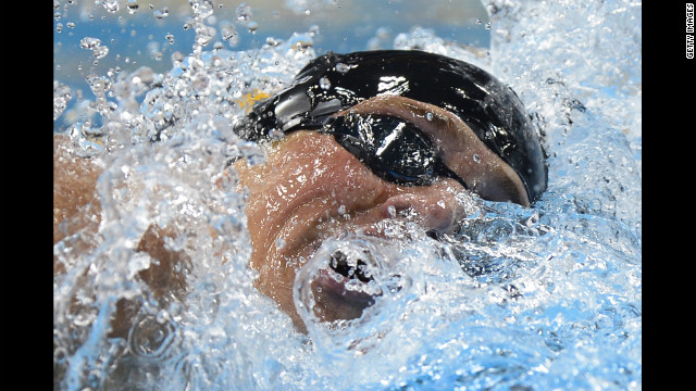 "Lochte competes in the men's 400-meter individual medley final. ""I know it's my time, and I'm ready."""