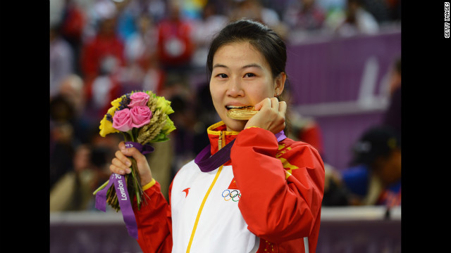 Siling Yi of China started a near-riot today when she discovered her gold medal was made out of chocolate. Peace was restored when British officials threw in some tinned beans.