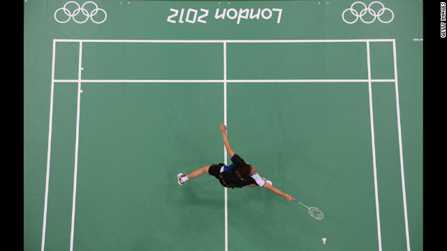 Lee Yong Dae Of South Korea Reaches For A Shot During The