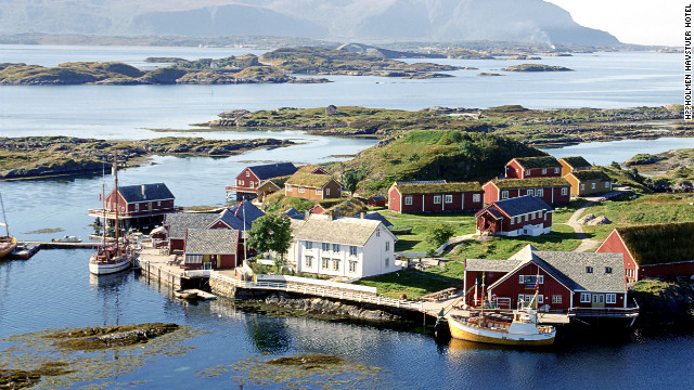 Norway's Håholmen Havstuer hotel is a renovated 17th-century fishing camp turned into a posh retreat.