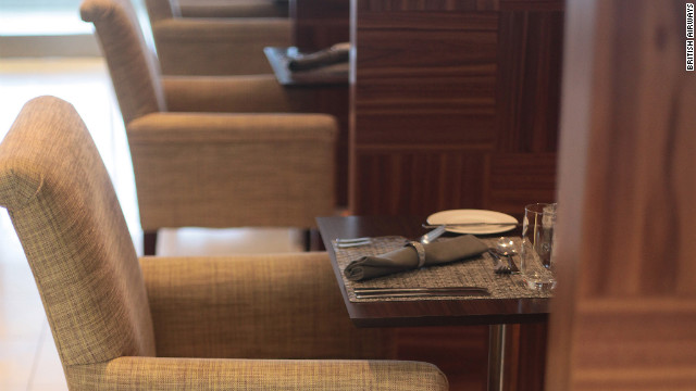 The Concorde Room at London's Heathrow has full waiter service, complimentary wines and Champagne and private cabanas.