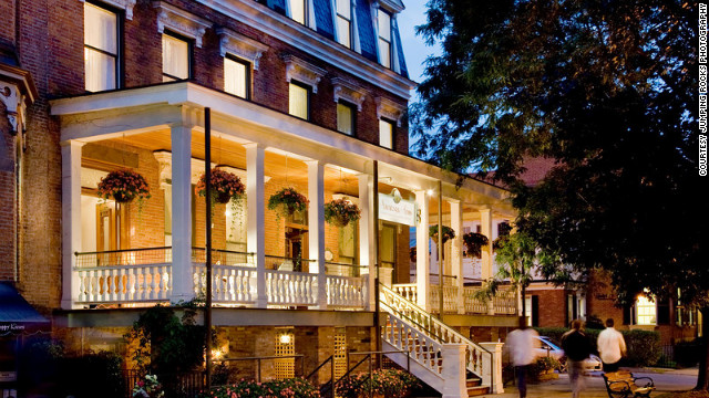 The historic 31-room Saratoga Arms hotel was built in 1870.