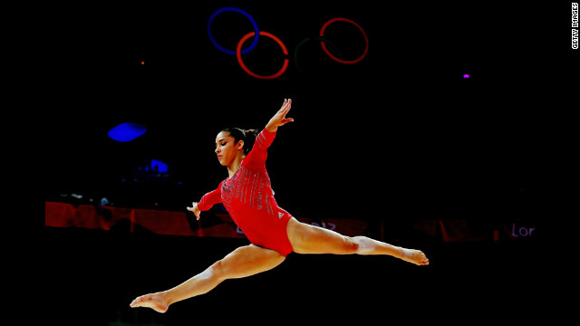 American Alexandra Raisman competes on the balance beam Tuesday. 
