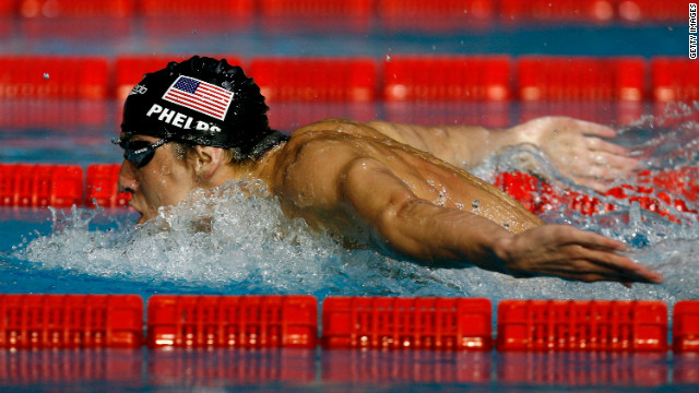 Phelps competes in the men's 400-meter individual medley final during the XII FINA World Championships in Melbourne, Australia. Not only does he win, he also sets a new world record.