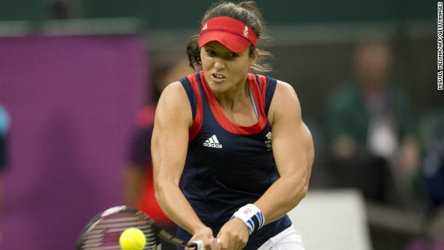While the former Wimbledon junior champion admitted she faced a formidable oponent, Robson said the state of the Center Court surface at Wimbledon was part of the reason for her defeat.