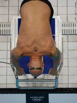 Canada's Brent Hayden takes the start of the men's 100-meter freestyle heat Tuesday. Check out <a href='http://www.cnn.com/2012/08/01/worldsport/gallery/olympics-day-five/index.html' target='_blank'>Day 5 of the competition</a> from Wednesday, August 1.