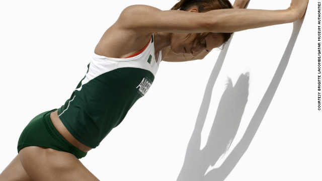 Algerian hurdler Amina Ferguen.