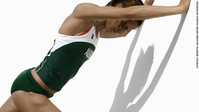 Algerian hurdler Amina Ferguen.