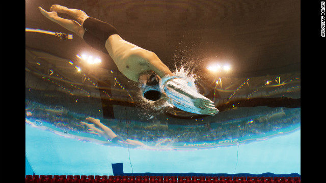 Japan's Takeshi Matsuda competes in the men's 200-meter butterfly final.
