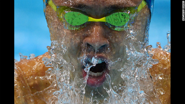 Japan's Kosuke Kitajima competes in the men's 200-meter breaststroke semifinal.