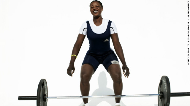Sudanese weightlifter Ali'a Madani.