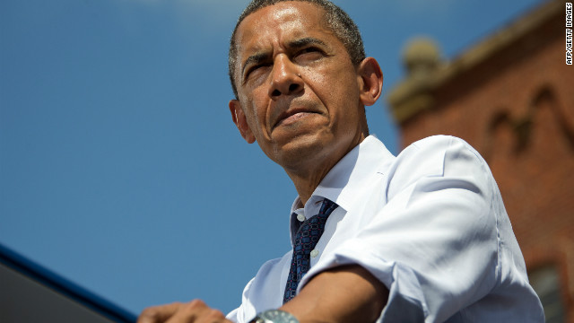President Obama campaigned in Mansfield, Ohio, on Wednesday, where he spoke about taxes.