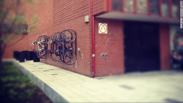 Bernice Radle used Instagram for this picture of bike racks in Montreal. Radle, a green consultant, frequently posts photos from her travels on social media to share cool aspects of the cities she visits with friends.