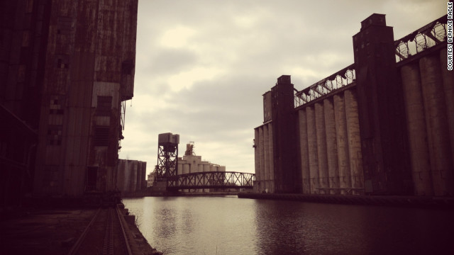 Bernice Radle took this Instagram shot of Buffalo's &quot;Silo City&quot; grain elevators.