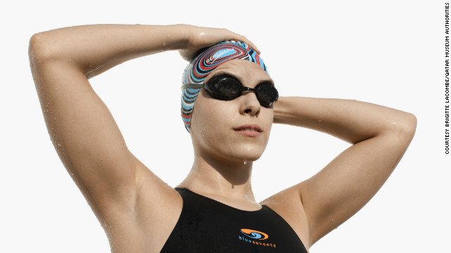Palestinian swimmer Sabine Hazboun will compete in the 50 meter freestyle event at the Games.