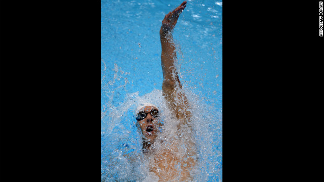 Michael Phelps competes in the men's 200-meter individual medley on Wednesday.