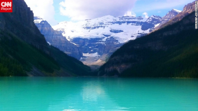 <a href='http://ireport.cnn.com/docs/DOC-814098'>iReporter Jim McClure</a> took this iPhone picture of <a href='http://www.banfflakelouise.com/?gclid=CIfD0qODybECFcldTAodQFgAnQ' target='_blank'>Lake Louise</a> in Banff National Park in the Canadian Rockies a few years ago. During that trip, he used his iPhone as his only camera and said he started to feel like a reporter with the continuous documentation.