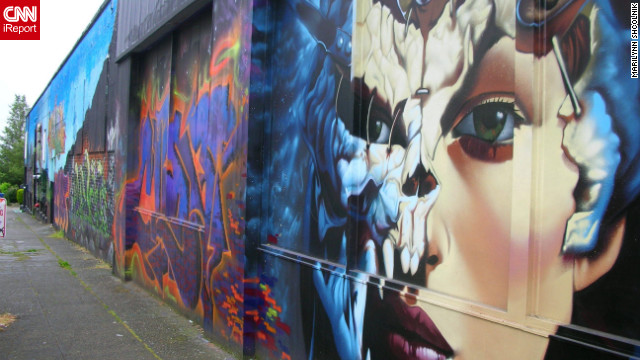 Street art in &lt;a href='http://ireport.cnn.com/docs/DOC-797467'&gt;Seattle, Washington&lt;/a&gt;.
