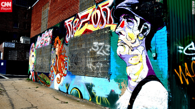 Dave Betts says in his neighborhood of Brooklyn, New York, <a href='http://ireport.cnn.com/docs/DOC-795369'>street art is celebrated</a>.