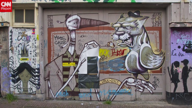 This street art was captured four years ago by an iReporter in <a href='http://ireport.cnn.com/docs/DOC-795011'>Amsterdam, Netherlands</a>.