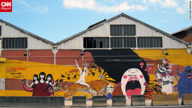 <a href='http://ireport.cnn.com/docs/DOC-782454'>iReporter Cristina Garcia from Lisbon, Portugal</a>, says street art is popular among young people and community urban artists in their area.