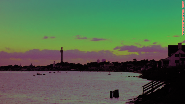 Provincetown residents and tourists often gather on the beaches to watch the sunset. 