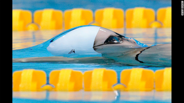 Belinda Hocking of Australia competes in the women's 200-meter backstroke heat.