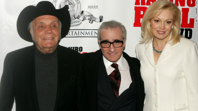 Jake LaMotta, Martin Scorsese and Cathy Moriarty attend a special screening of
