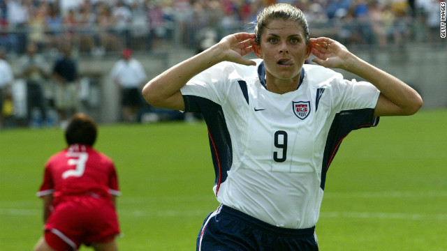 U.S. soccer star Mia Hamm inspired her side to gold in the women's football in Atlanta in 1996 and at Athens 2004. The Americans also triumphed at Beijing 2008.