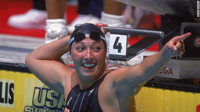 U.S. swimmer Amy Van Dyken overcame problems with asthma to win six gold medals during her Olympic career, with four of those coming at the 1996 Atlanta Games.