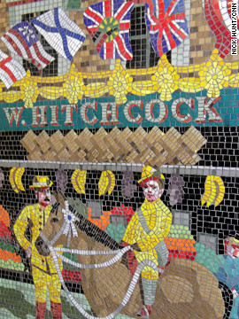 But the director's links with the area are celebrated in other ways: At Leytonston tube station, on the Central Line, the walls are decorated with mosaic murals featuring scenes from Hitchcock's life and films.