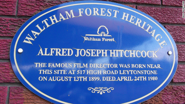 A blue plaque marks the site of Hitchcock's birthplace, above the family's greengrocer's shop at 517 High Road, Leytonstone. The building was demolished many years ago to make way for a petrol station and fried chicken shop.