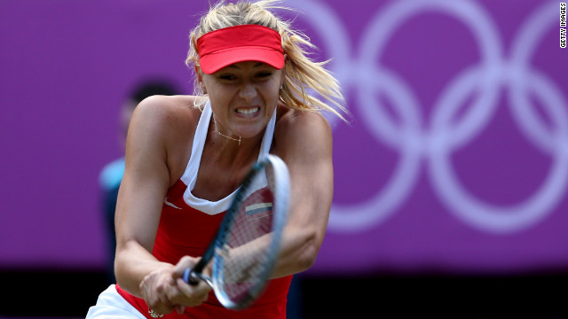 Maria Sharapova beat Kim Clijsters to reach the semifinals of the women's singles at the London 2012 Olympics.