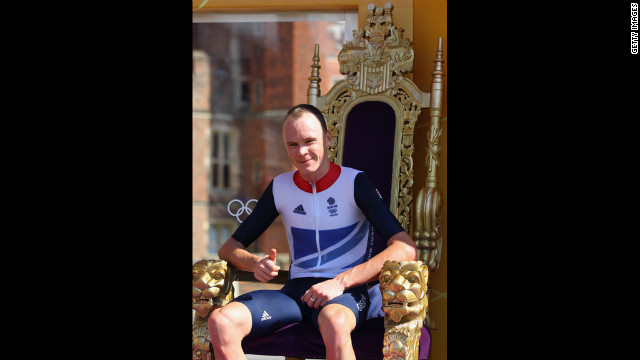 Every day, a lucky commoner gets five minutes to serve as Britain's monarch. Here, cyclist Christopher Froome announces that he is putting his rivals to death.