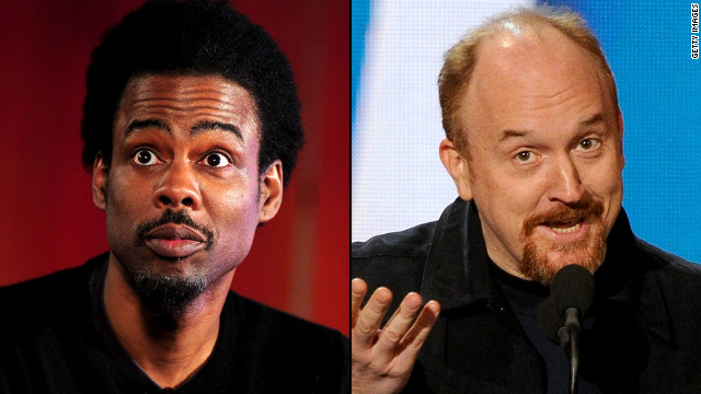 In an ideal world for Romney, his media coaching would include Henry Higgins-style speech lessons from Chris Rock, left, or Louis C.K.
