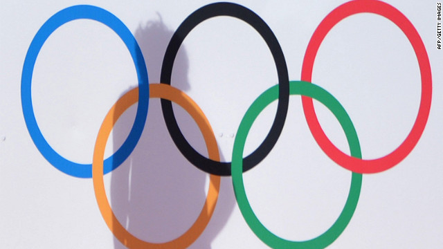 South Korea's Park Mi-hyun casts a shadow on the Olympic Rings during a women's field hockey preliminary match against Japan at the Riverbank Arena.