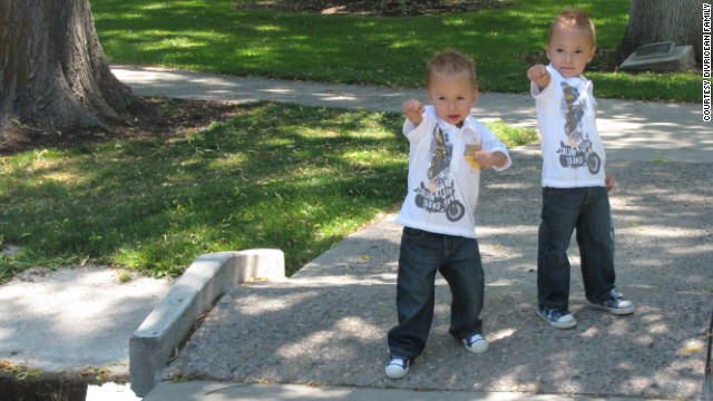 Patrick, left, and Andrew turned 3 years old in May.